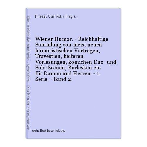 Wiener Humor. - Reichhaltige Sammlung von meist neuen humoristischen Vortr 39939
