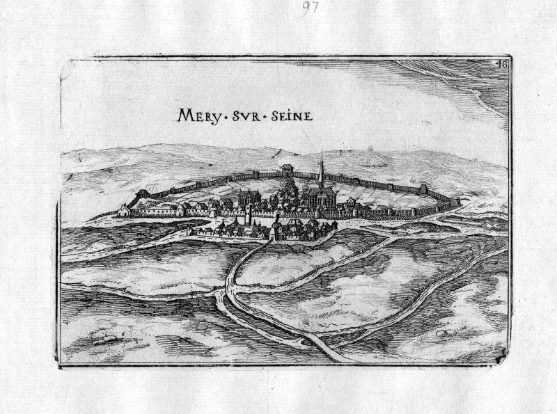 1633 Mery-sur-Seine Aube Tassin gravure estampe Kupferstich engraving