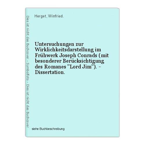 Untersuchungen zur Wirklichkeitsdarstellung im Frühwerk Joseph Conrads (mit beso