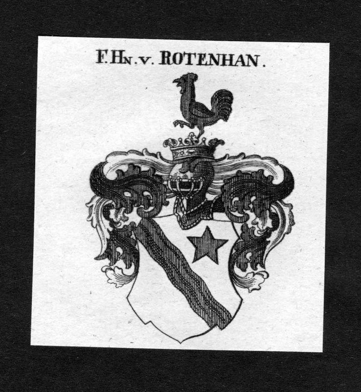 1820 - Rotenhan Rottenhan Wappen Adel coat of arms heraldry Heraldik