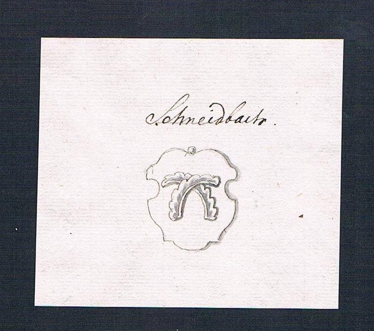 18. Jh. Scheidbach Handschrift Manuskript Wappen manuscript coat of arms