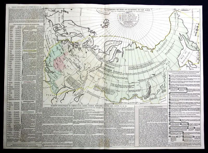 1803 Russland Russia Asia Europe Karte map Kupferstich antique print Le Sage