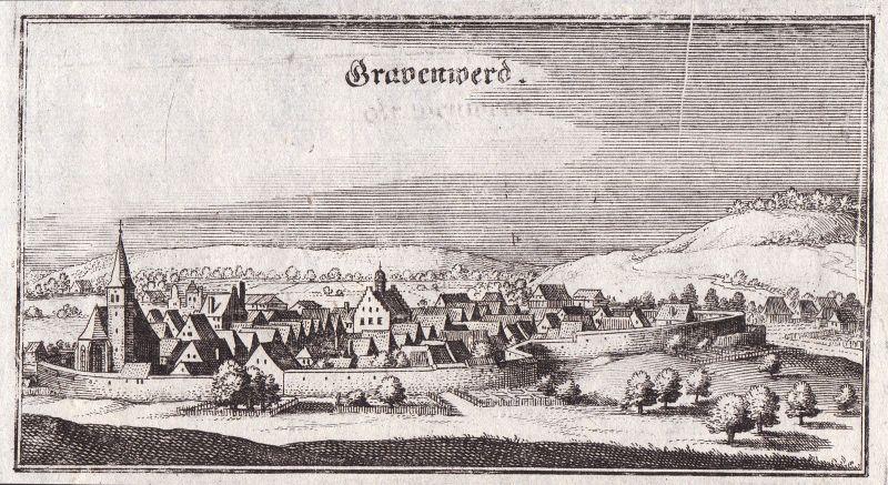 1650 Grafenwöhr Grafenwoehr Ansicht view Kupferstich antique print Merian