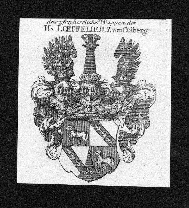 1820 - Loeffelholz von Colberg Löffelholz von Kolberg Wappen Adel coat of arms