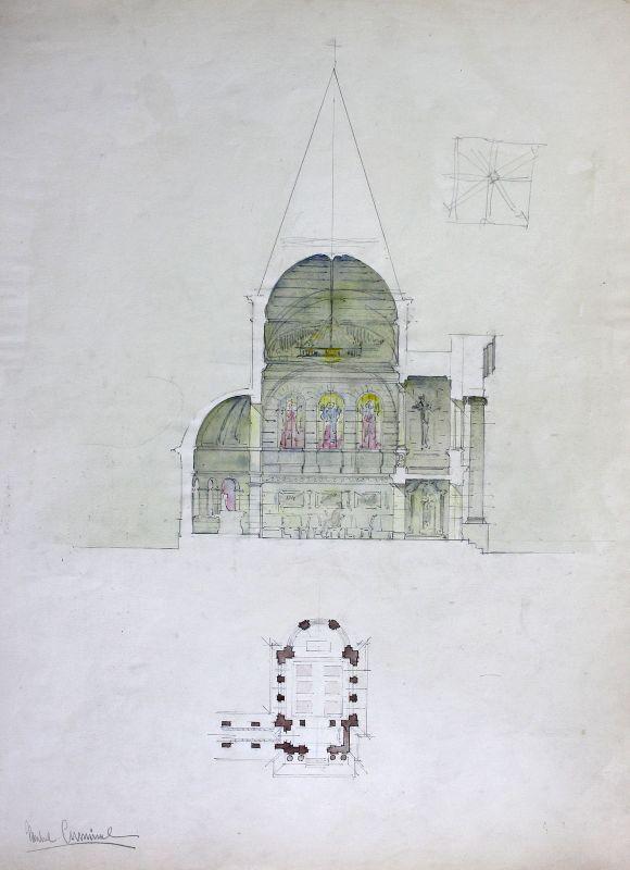 Kirche church Zeichnung Architektur architecture design drawing Cuminal