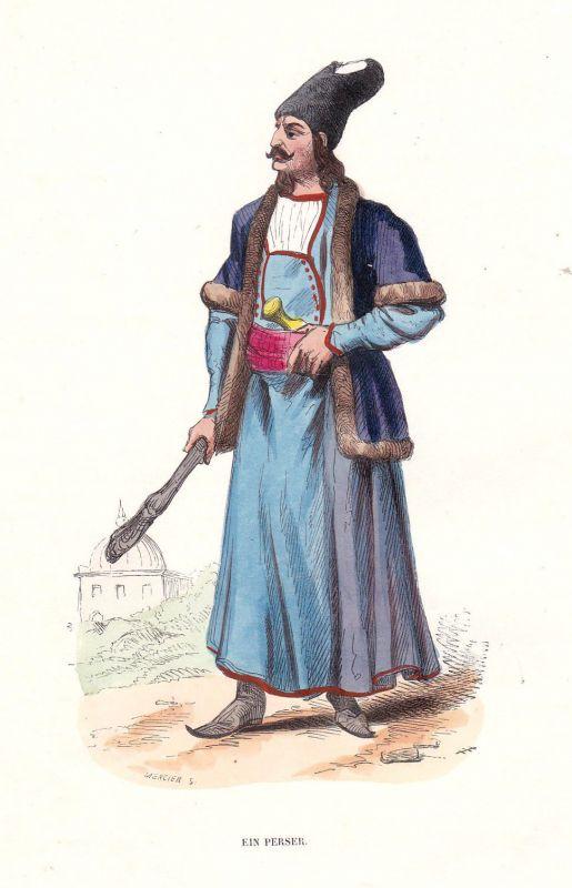 1840 Perser Persian empire Perserreich Asien Asia Tracht costume Grafik