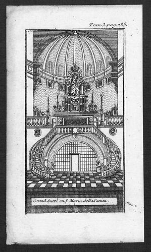 1700 - Neapel acquaforte Kupferstich Italy veduta copper engraving