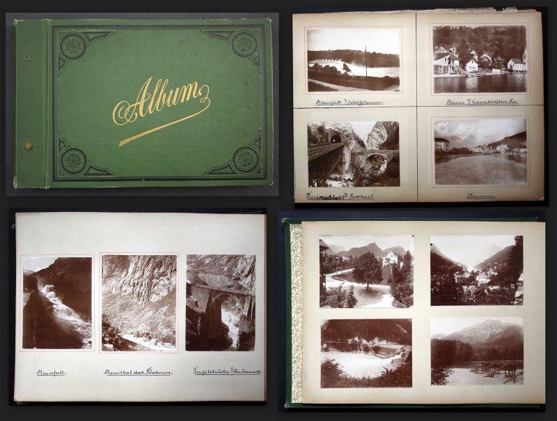 1890 Italy Italia photo album Sicilia Monaco San Remo Genova Lugano Catania