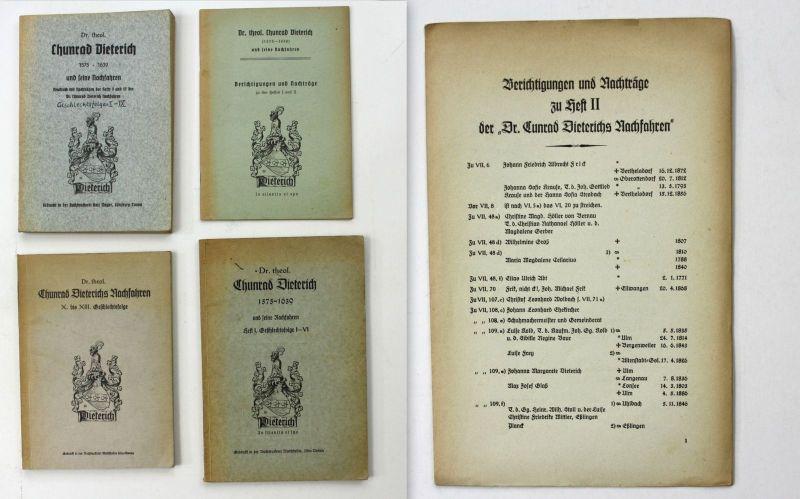 Otto Leube Dr. theol. Chunrad Dieterich und seine Nachfahren 1935 Reise