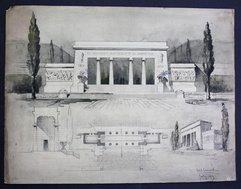 Gedenkstätte memorial Zeichnung Architektur architecture design drawing Cuminal