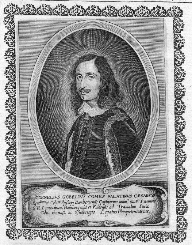 17. Jh. Cornelius Gobelius Erfurt Weihbischof Portrait Kupferstich antique print