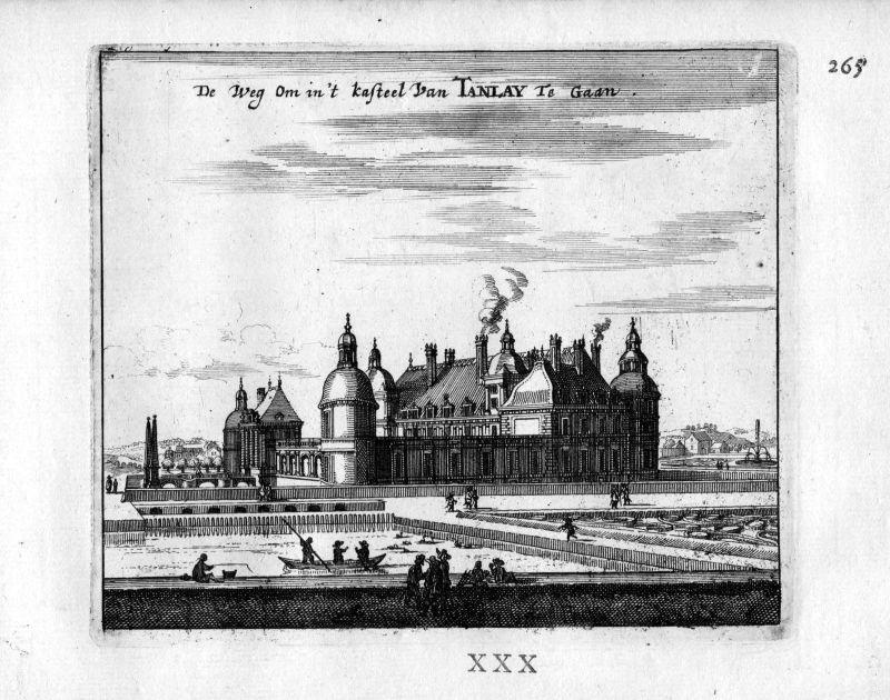 1666 - Chateau de Tanlay Yonne Frankreich France gravure estampe Kupferstich
