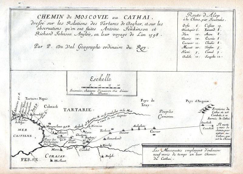 1665 Moscow Russia Russland map carte Karte Kupferstich antique ...