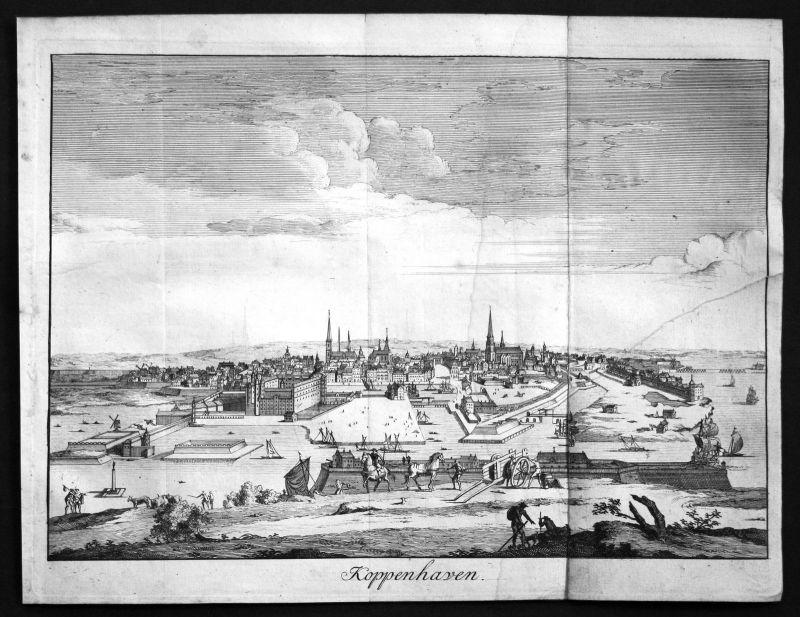 Ca. 1705 Kobenhavn Copenhagen Denmark Danmark Ansicht view de La Croix