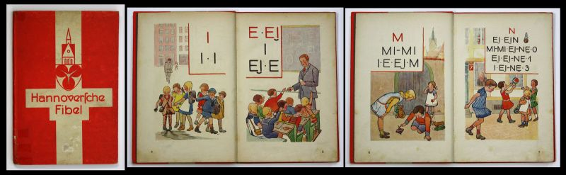 1930 Hannoversche Fibel - Lesebuch Hannover Bilderbuch lesen Bilderbuch