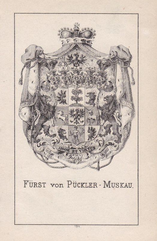 1840 Hermann von Pückler-Muskau Wappen heraldry Heraldik coat of arms Adel