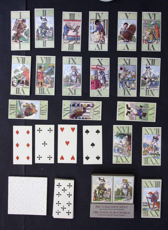 Die Verkehrtewelt Tarockspiel 1982 Tarot Kartenspiel Faksimile playing cards