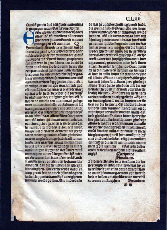 1499 Blatt CLII Inkunabel Vita Christi Zwolle incunable Holland Dutch