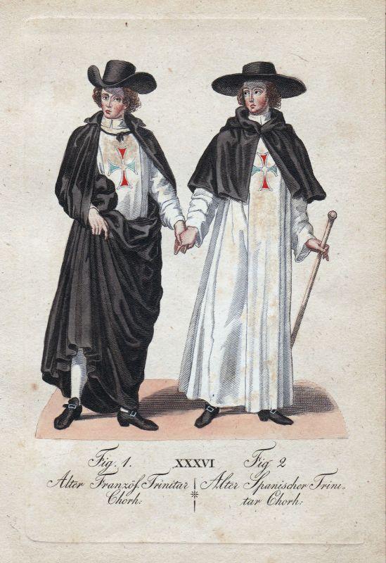 Trinitar Frankreich France Spanien Spain Trinitarierorden Orden Kupferstich