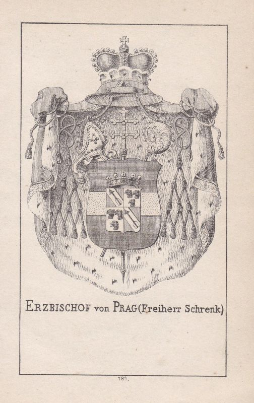 1840 Prag Prague Tschechien Czech Schrenk Wappen Heraldik coat of arms Adel