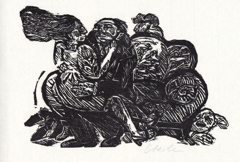 1998 Klaus Eberlein Bertolt Brecht Holzschnitt Gedichte über die Liebe signiert