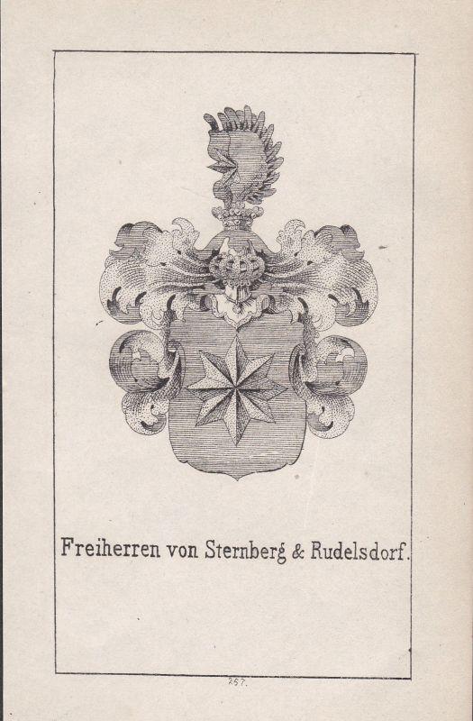 1840 Sternberg Rudelsdorf Böhmen Bohemia Wappen Heraldik coat of arms Adel