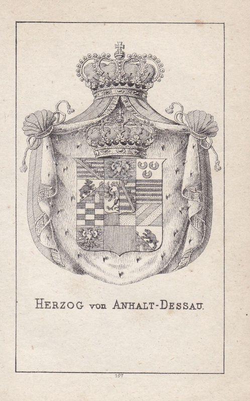1840 Anhalt-Dessau Anhalt Wappen heraldry Heraldik coat of arms Adel