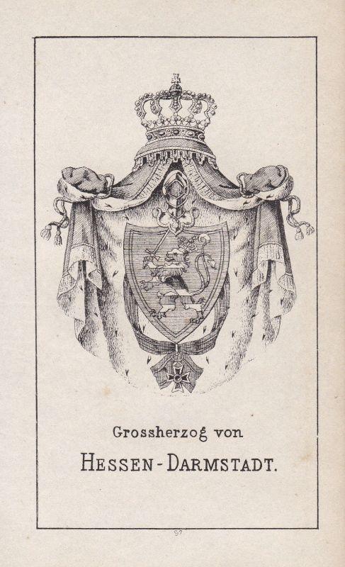 1840 Darmstadt Hessen Deutschland Germany Wappen Heraldik coat of arms Adel