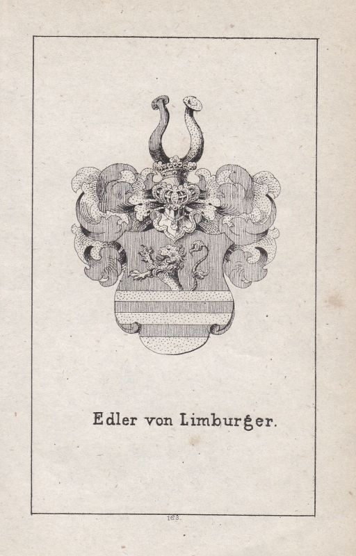 Ca. 1840 Limburg Wappen heraldry Heraldik coat of arms Adel