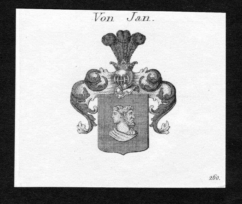 1820 Jan Wappen Adel coat of arms heraldry Heraldik Kupferstich engraving