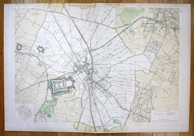 Rosny-sous-Bois Villemomble Avron La Boissière plan de la ville city map Paris