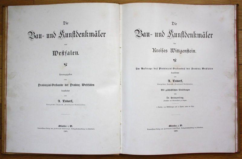 1903 Ludorff Die Bau- und Kunstdenkmäler des Kreises Wittgenstein Westfalen