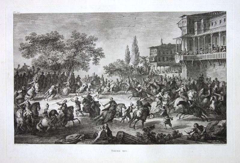 1781 Kampf Schlacht battle fight Turkey Türkei Kupferstich antique print  156810