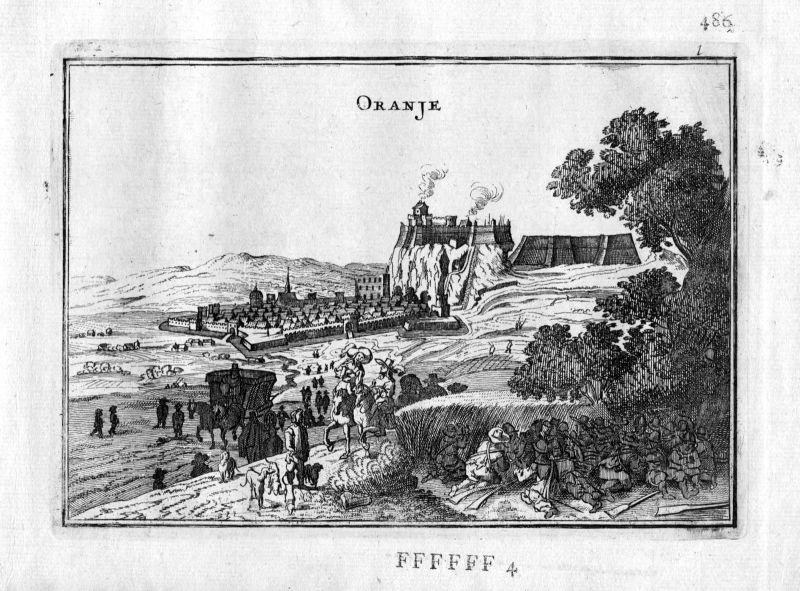 1666 - Orange Vaucluse Provence Frankreich France gravure estampe Kupferstich