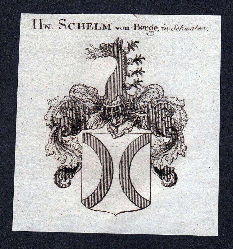 Schelm Berge Schwaben Wappen Adel coat of arms Heraldik Kupferstich engraving