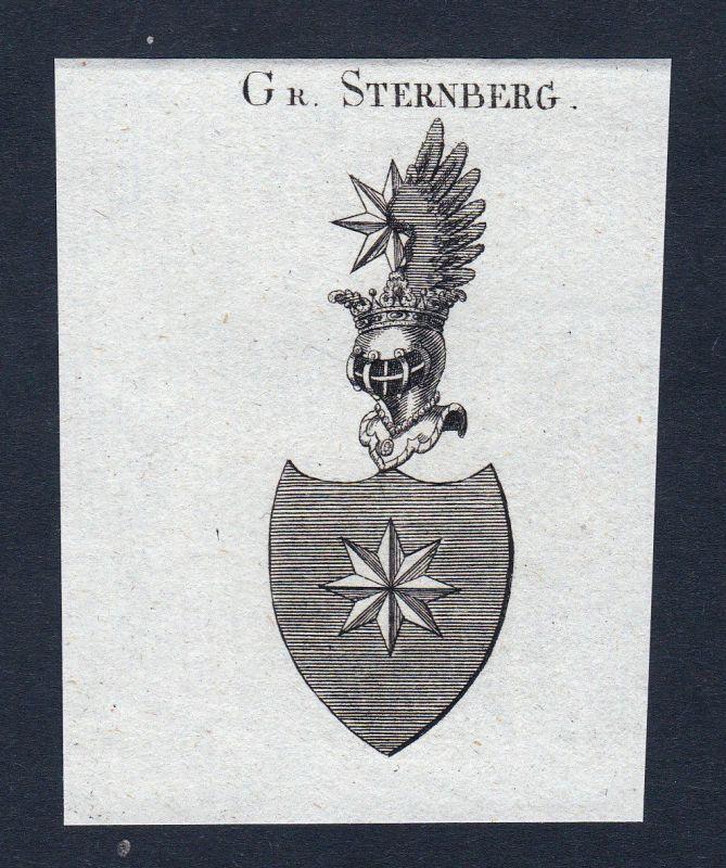 Sternberg Böhmen Wappen Adel coat of arms Heraldik Kupferstich engraving