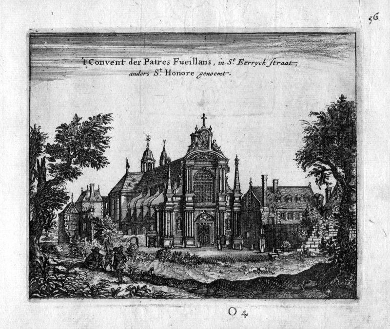 1666 Kirche Saint Honore Paris Frankreich France gravure estampe Kupferstich