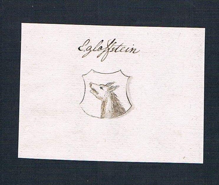 18. Jh. Egloffstein Adel Handschrift Manuskript Wappen manuscript coat of arms