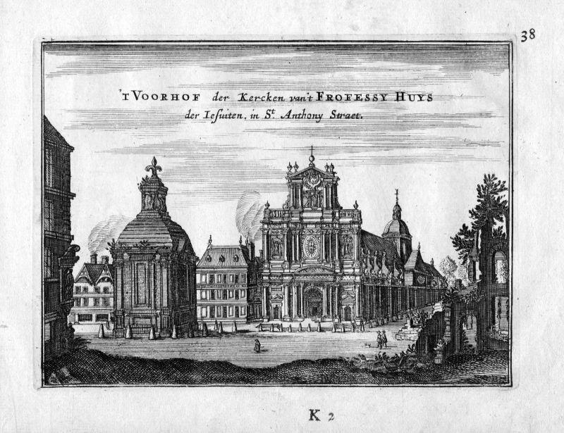 1666 Kirche Saint Froissy Saint Anthony Paris Frankreich France gravure estampe
