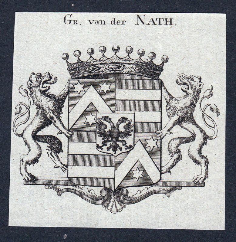 Dernath Nath Niederlande Wappen Adel coat of arms Heraldik Kupferstich engraving
