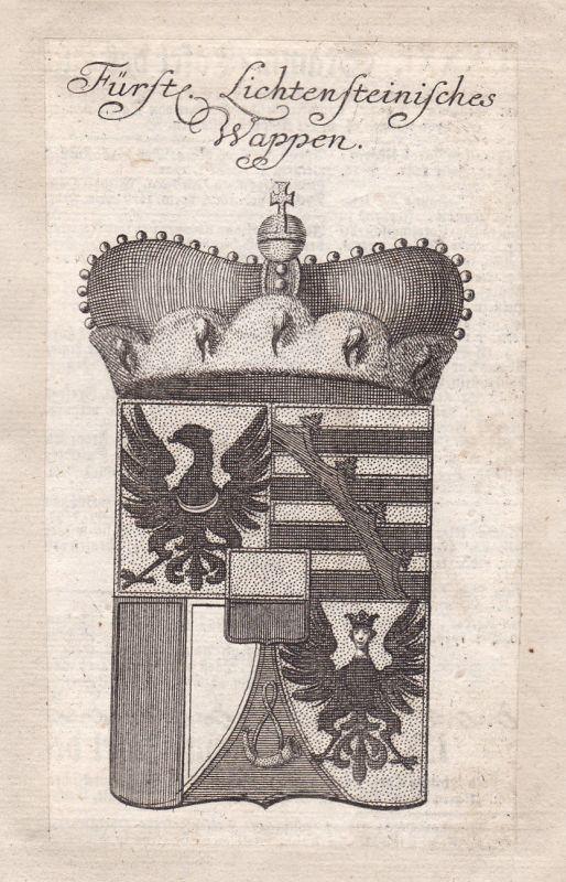 1750 Liechtenstein Österreich Schweiz Austria Svizzera Adel Wappen coat of arms