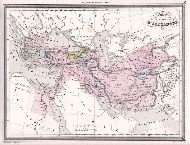 1840 Turkey Türkei Syria Syrien Egypt Ägypten Irak Greece Karte map Vuillemin