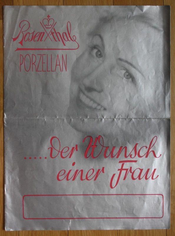 Ca. 1939 Rosenthal Porzellan der Wunsch einer Frau Prospekt Preisliste Katalog