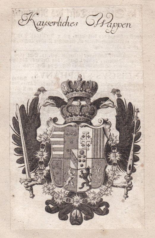 1750 Kaisertum Österreich Austria empire Adel Wappen coat of arms Kupferstich