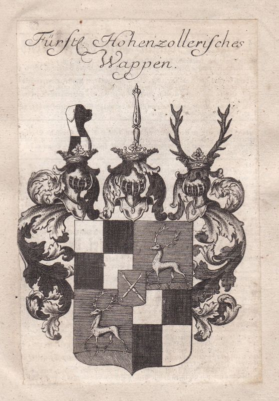 1750 Hohenzollern Deutschland Germany Adel Wappen coat of arms Kupferstich