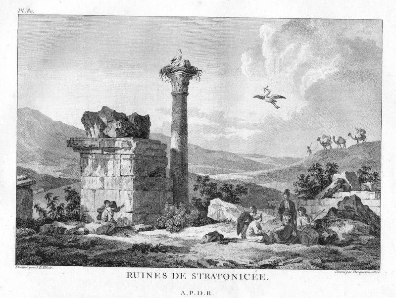 1780 - Stratonicea Turkey antique print Kupferstich