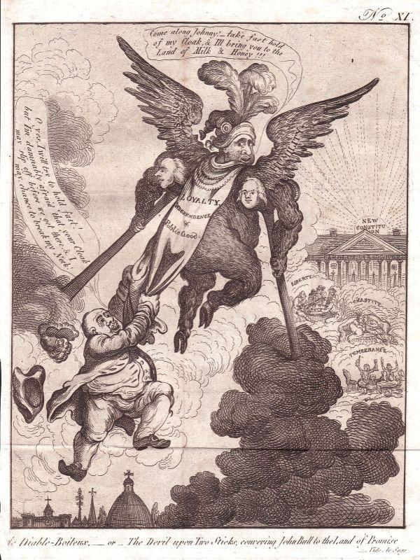 1800 Gillray devil England loyalty Karikatur caricature Aquatinta mezzotint