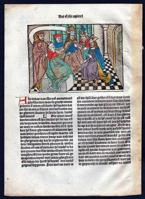 1499 Blatt CCLXXI Inkunabel Vita Christi Zwolle Holzschnitt woodcut incunable
