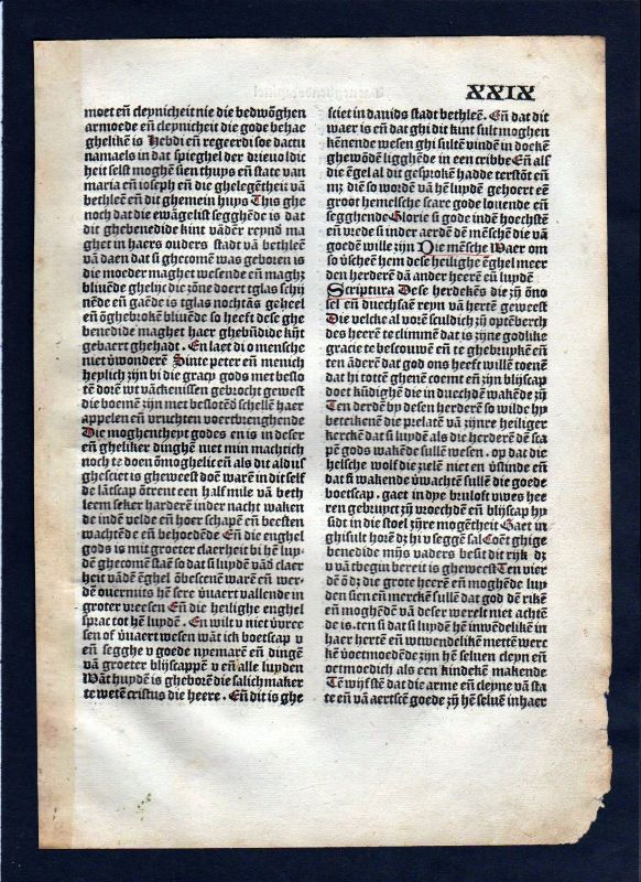 1499 Blatt XXIX Inkunabel Vita Christi Zwolle incunable Dutch Holland