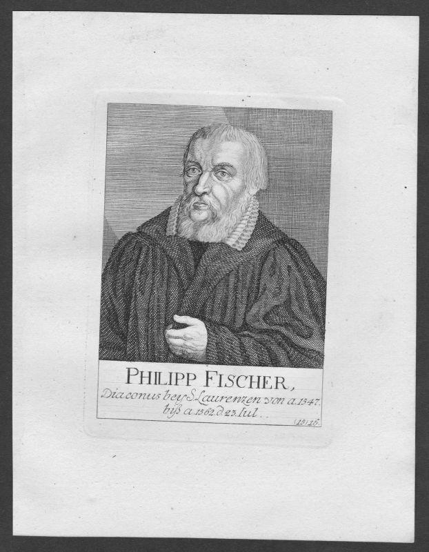 18. Jh. Philipp Fischer Diakon St. Lorenz Lorenzkirche Nürnberg Portrait